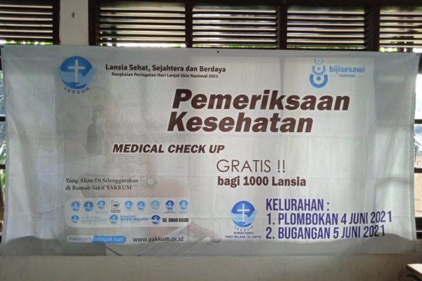 Pemeriksaan Kesehatan  (MCU) Gratis Bagi 1000 Lansia